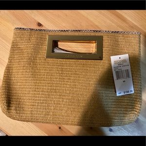Gorgeous Michael Kors soft straw clutch